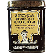 Vintage, Mc Ness Cocoa, Advertising Sample Tin