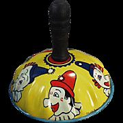 Vintage Toy Noise Maker with Clown Faces