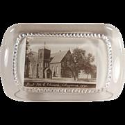 Vintage, Glass Paperweight - First Methodist Church of Cheyenne