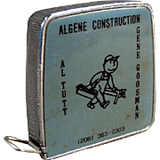 Vintage, Steel Tape Measure - 1/4 & 1/8 Scale - Construction Company Advertising