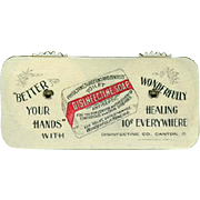 Vintage, Celluloid Game Counter -  Disinfectine Soap Ad