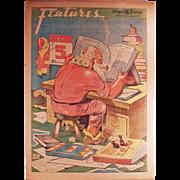 "Vintage, Portland ""Oregon Journal"" Newspaper with Santa Claus - 1937"