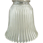 Vintage Light Shade - Frosted Glass with Zipper Pattern