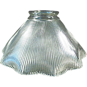 Vintage Light Shade - Single with Close Ribbed Pattern