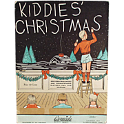Kiddies' Christmas - Vintage Sheet Music/Coloring Book