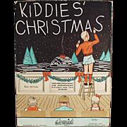 Kiddies' Christmas - Vintage Sheet Music/Coloring Book