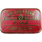 Vintage Medical Tin - Chi-Ches-Ters, Diamond Brand Pills