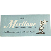 Vintage, Steel Phonograph Needles - Meritone