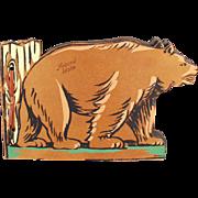 Vintage Photograph / Scrap Book with Bear - Moscow Idaho Souvenir