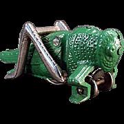 Vintage Hubley, Cast Iron Grasshopper Pull Toy - Original Paint