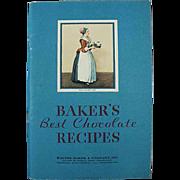 Vintage, Baker's Best Chocolate, Recipe Booklet