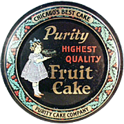 Vintage Fruit Cake Tin - Perfect for Christmas Cookies or Decorating