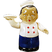Vintage, Wind Up Celluloid Toy - Black Waiter - O.J.