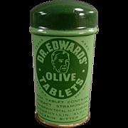 Vintage, Dr. Edwards' Laxative Tin - Large Size
