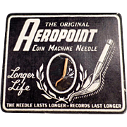 Vintage, Aeropoint, Coin Machine Phonograph Needle