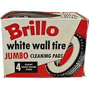 Vintage, Brillo Pads Box -  White Wall Tire Cleaning