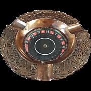 SALE PENDING Vintage, Las Vegas Advertising - Souvenir Ash Tray Roulette Wheel