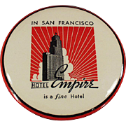 Vintage, Celluloid Advertising Clothes Brush - Hotel Empire
