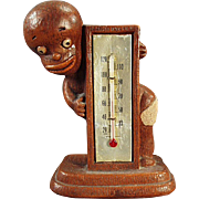 Vintage, Black Memorabilia - Syroco Thermometer - Black Boy