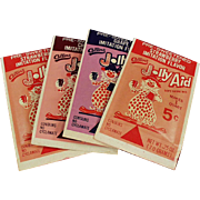 Four, Vintage, Jolly Aid Packets - Nice Clown Graphics
