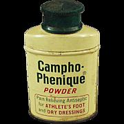 Vintage, Campho-Phenique Powder, Sample Tin
