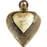 SALE Vintage Perfume Bottle - White Shoulders Sample, Heart Shaped Bottle with Original Label