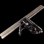 "Vintage Combination Square - 12"" - Union Tool Co."