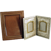 Two, Vintage Photograph Frames - Nice for a Desk or Mantle