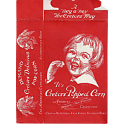 Vintage Popcorn Box - Cretor's with Happy Child's Face