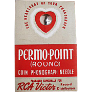 Vintage, RCA Victor Permo-Point, Coin Phonograph Needle