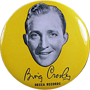 Vintage Record Duster - Bing Crosby- Decca Advertising