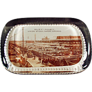 Vintage Glass Paperweight - Busy Alley, Chicago