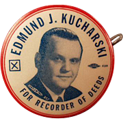 1956 Political Campaign, Vintage Celluloid, Advertising Tape Measure