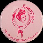 Vintage, Dusharme Hair Creme Jar - Purse Size