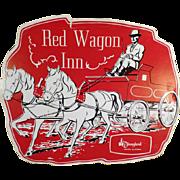 Vintage Souvenir Menu from the Red Wagon Inn of Disneyland
