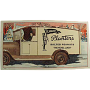 Vintage Ink Blotter - Planters Peanut Advertising