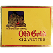 Vintage, Old Gold Cigarette, Flat Tin - Very Nice Condition