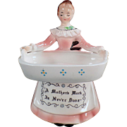 SOLD Vintage, Enesco, Kitchen Prayer Lady - Soap & Scouring Pad Holder