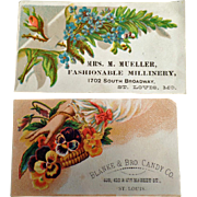 Vintage Trade Cards - Two St. Louis Businesses