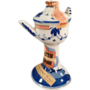 Vintage, Miniature Delft Liqueur Bottle - Pretty Colors
