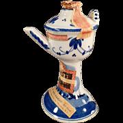 Vintage, Miniature Delft Liqueur Bottle - Pretty Colors
