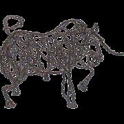 Wire Bull Sculpture by Thai Varick - Folk Art - Outsider Art