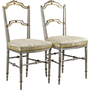 Pair of Antique Louis XVI Style 19th C French Chairs