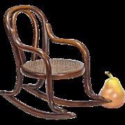 Miniature Bentwood Rocker - Doll Furniture - Toy Chair