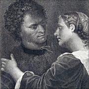 The Lovers - Antique Engraving after Giorgione (Giorgio Da Castelfranco) by Domenico Cunego fr