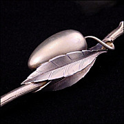 "Gorham Aesthetic Movement ""Olive Spoon and Fork"" - 1880's - Gilded Sterling Silver - Gilt - American Flatware"