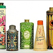 SOLD SEE THESE TINS IN COUNTRY LIVING MAGAZINE (Sept. 2010 p. 44) - Collection of Five Early A