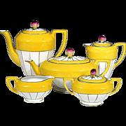 SOLD Czech Tea Service w/ Rosebud Finials - Hand Painted - Victoria China Czechoslovakia - 191