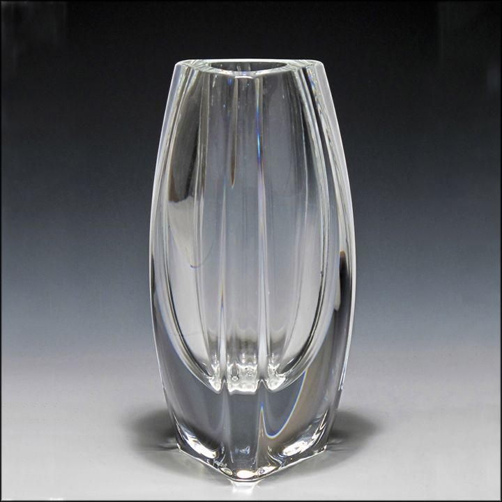 Signed Baccarat Crystal Bouton Dor Vase From Oh On Ruby Lane