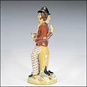 SOLD Antique Staffordshire Temperance Figurine - Double Sided Water and Gin